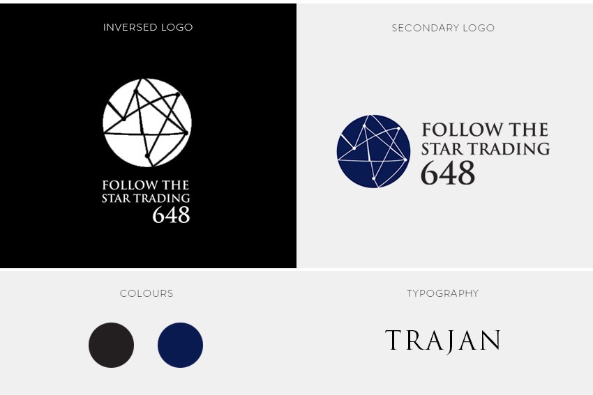 follow the star trading corporate identity