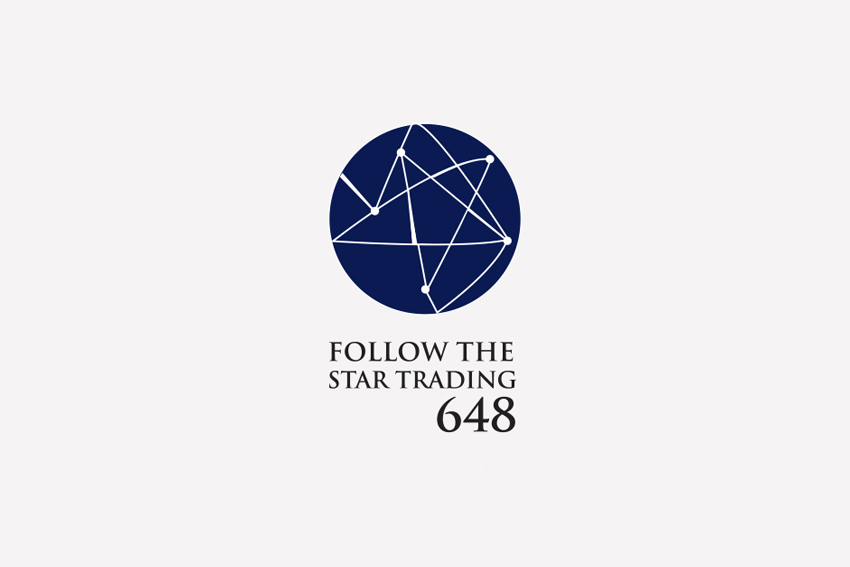 Follow the star trading corporate identity logo