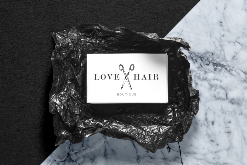 Love Hair Boutique Business Card main
