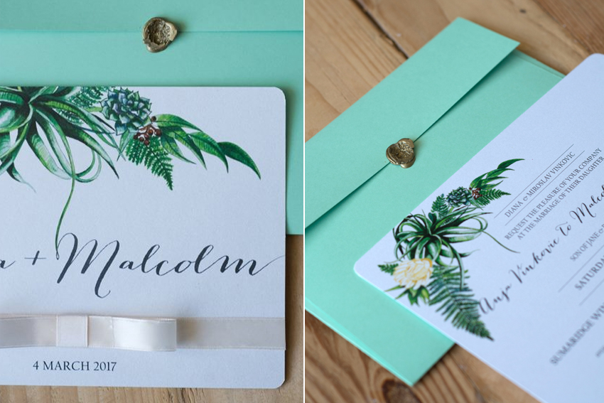 Anja and Malcolm wedding invite 3