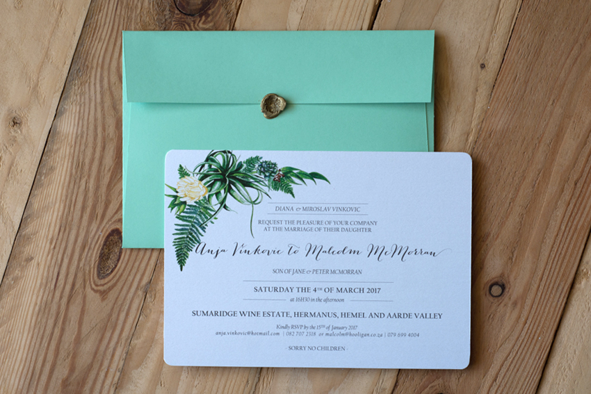 Anja and Malcolm wedding invite 2
