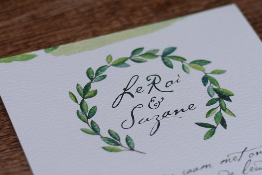 Leroi Suzane weddng invite 5