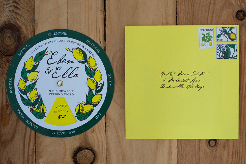 Yellow and Green wedding invite inspiration 3