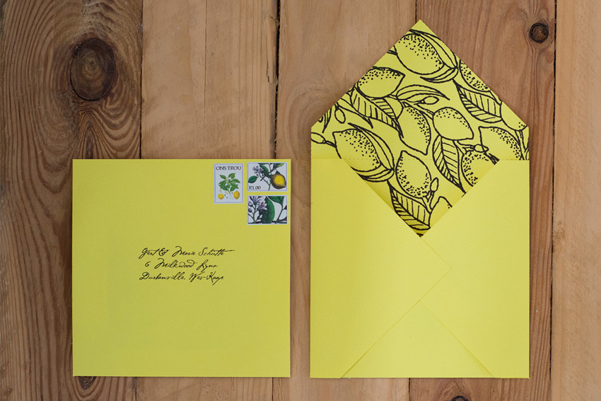 Yellow and Green wedding invite inspiration 2